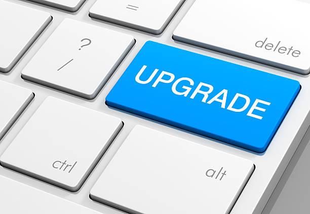 upgrade keyboard 3d illustration isolated on white background